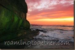 Sunset at Ja Jolla Cove
